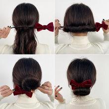 Novo velvet arco de cabelo mágico buns donut cabelo maker clip modelador de cabelo moda feminina meninas diy penteado hairbands ferramentas acessório