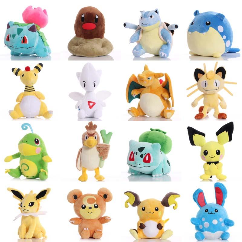 Pikachued Bulbasaur Charmander Eevee Squirtle Snorlax Mewtwo peluş oyuncak Totodile buz Vulpix sevimli Anime doldurulmuş oyuncak hediyeler için çocuk