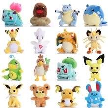 Pikachued Bulbasaur Charmander Eevee Squirtle Snorlax Mewtwo Plüsch Spielzeug Totodile eis Vulpix Nette Anime stofftier Geschenke für kind
