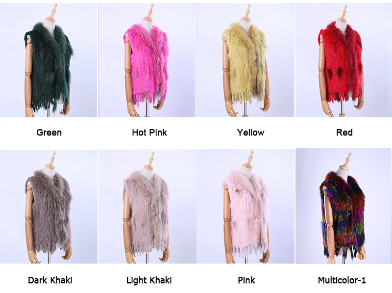 H0e8162c64cc2497187c6ba35c24be660p Brand New Women's Lady Genuine Real Knitted Rabbit Fur Vests tassels Raccoon Fur Trimming Collar Waistcoat Fur Sleeveless Gilet