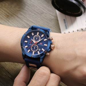 Image 5 - Minifocus moda masculina esporte relógios homem quartzo relógio analógico pulseira de silicone militar à prova dmilitary água relógio relogio masculino