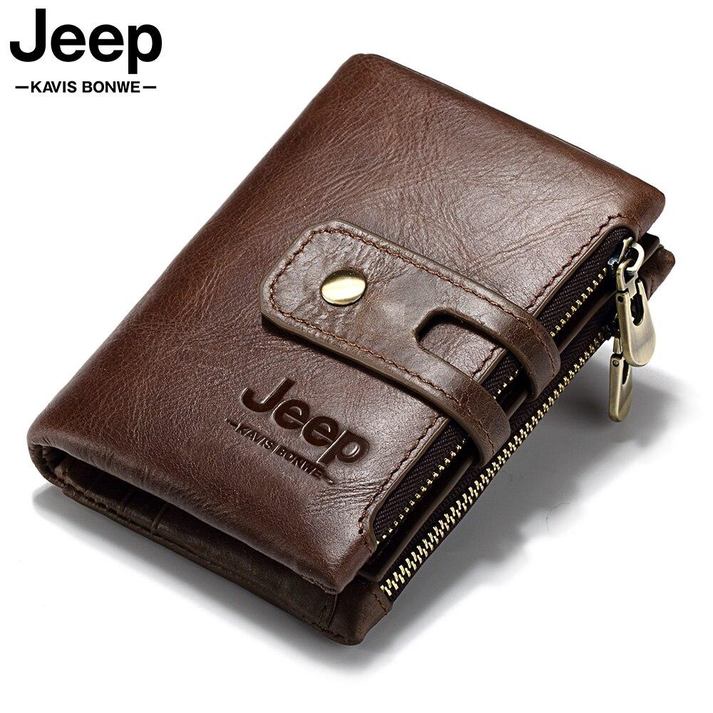 100% Genuine Leather Men Wallet Coin Purse Small Mini Card Holder PORTFOLIO Portomonee Male Pocket Mini Fashion Gift