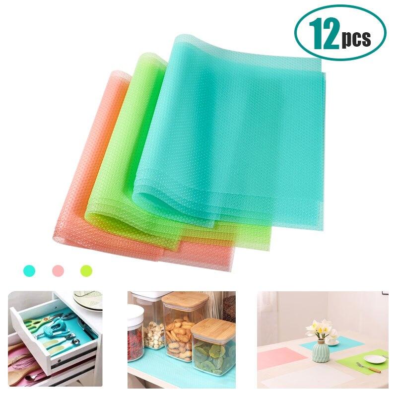 4pcs/set Refrigerator Waterproof Pad Antibacterial Antifouling  Mildew Moisture Tailorable Pad Refrigerator MatsMats