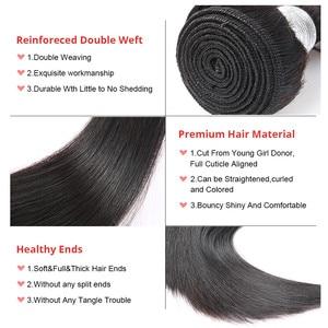 Image 5 - Straight Brazilian Hair Weave Bundles Human Hair Bundles With Closure Hair Extension Ever Beauty Natural Black Virgin