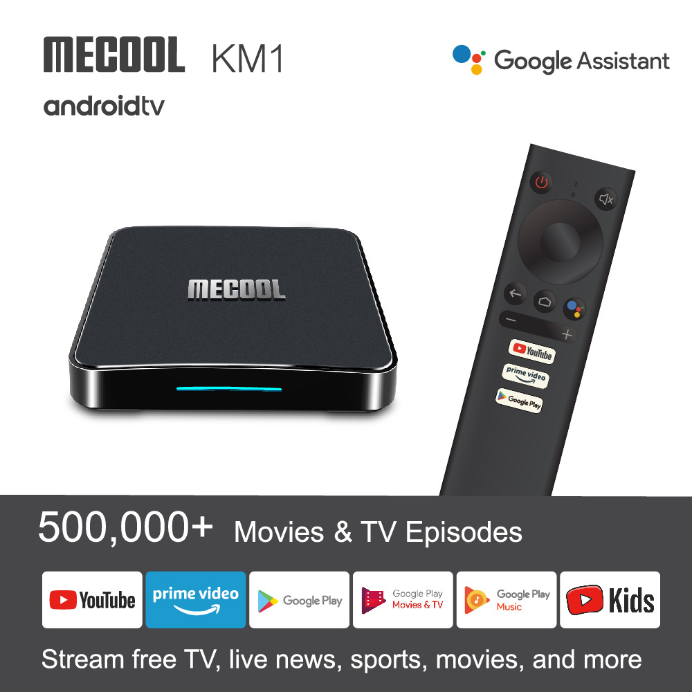 Mecool New Android-TV-box Amlogic S905X3 Set-Top-Box  KM1 ClASSIC ATV 4GB-64GB 4K Media Player Voice Bluetooth Remote Control