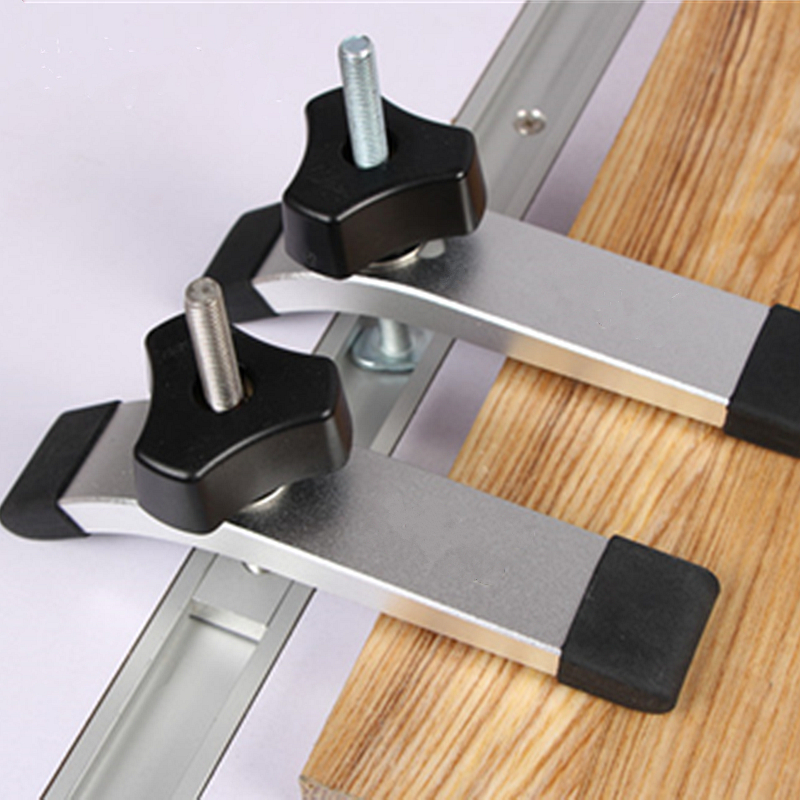 Alloy Steel Quick Acting Hold Fixing T-track Clamps Woodworking Jig Clamping Blocks Device For Carpenter Woodworking Tools