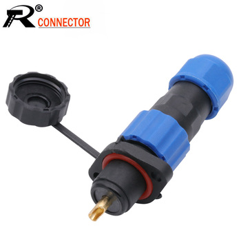 IP68 Aviation Plug SP13 1 2 3 4 5 6 7 Pin cable connectors Plug and socket Flange Type Waterproof connector DIY YOU image