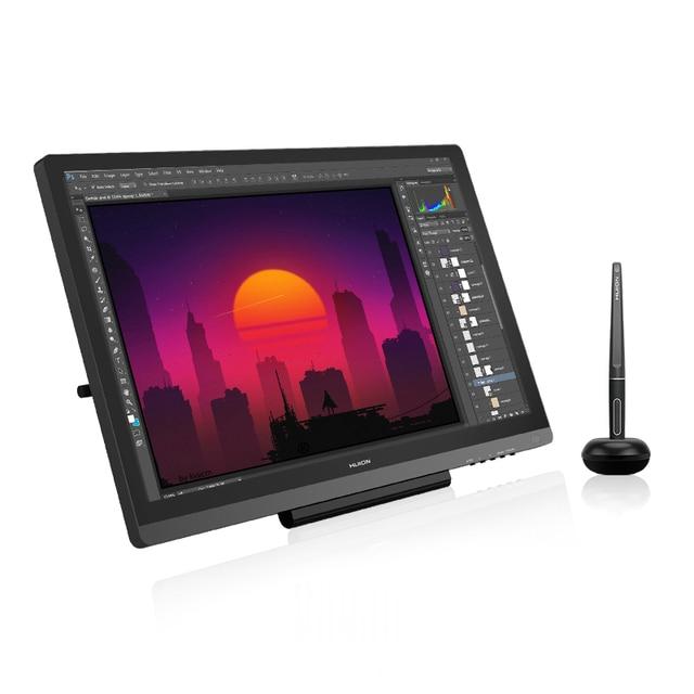 HUION Kamvas 20 19.5 אינץ סוללה משלוח לוח גרפי צג IPS עם AG זכוכית 120% sRGB עט Tablet צג