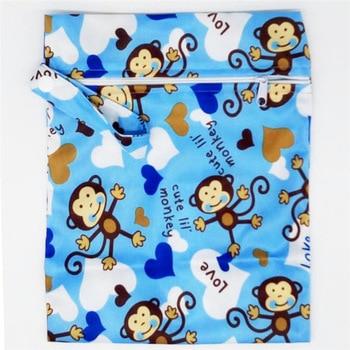 20*25cm Mini Diaper Wet Bag Single Pocket Zipper Baby Bags For Mom Maternity Travel Stroller Bag PUL Nappy Diaper Bag Wetbag - A60-1