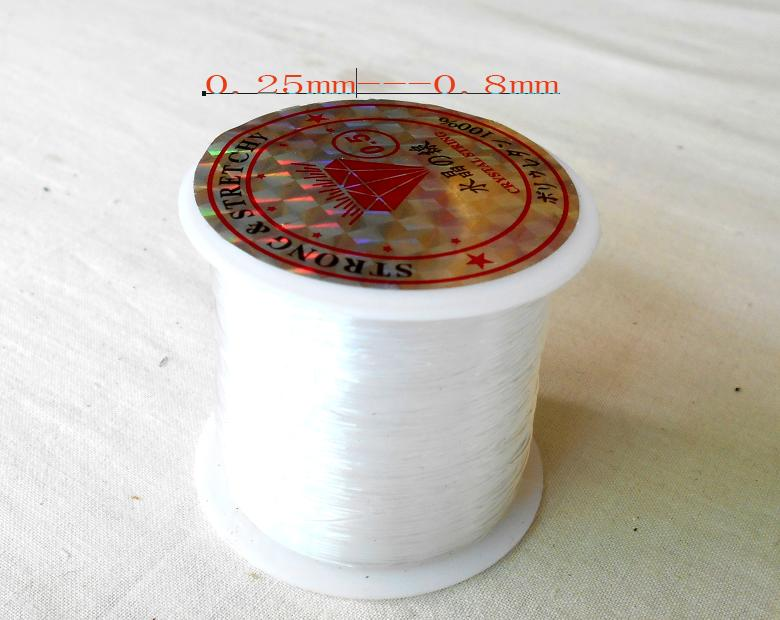 Sale 0.2/0.25/0.3/0.35/0.4/0.45/0.5/0.6/0.7/0.8mm 1 Roll Transparent/Clear Strong String Cord Wire Rope For Fish