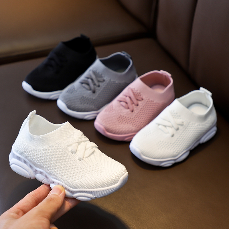 Children Casual Shoes Infant Kids Baby Girls Boys Solid Sneakers Stretch Mesh Sport Run Shoes Kids Shoes Boys Sneakers