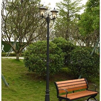(H≈ 2,2 M) на открытом воздухе садовый светильник водонепроницаемый высокий шест уличный светильник E27 вилла зеленой травки сообщества Пейзаж