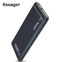 Essager 10000 mAh Slim Power Bank Tragbare Externe Batterie Ladegerät 10000 mAh Dual USB LED Power Für iPhone Xiaomi Redmi mi 8-in Powerbank aus Handys & Telekommunikation bei