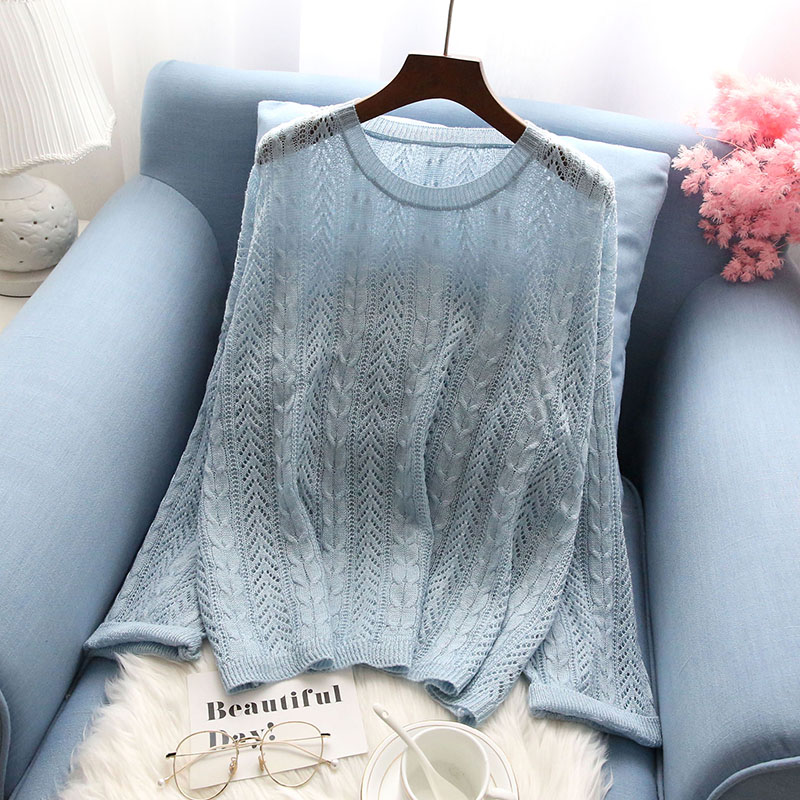 autumn new thin women sweater and pullovers knitted solid flare sleeved loose lady elegant pulls fashion outwear tops|Pullovers|   - AliExpress