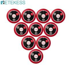 Retekess 10 pces t117 chamada pager 433 mhz garçom botão de chamada transmissor para spar café sistema chamada sem fio serviço ao cliente