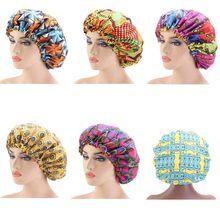 Satin doublé Bonnet femmes grande taille beauté impression Satin soie Bonnet sommeil nuit casquette couvre-tête Bonnet chapeau en gros Extra Large