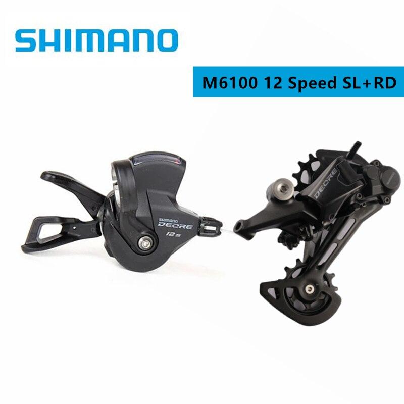 SHIMANO palanca de cambios DEORE M6100/SLX M7100 SL + RD para bicicleta de montaña, desviador trasero M6100, 12 velocidades, 1x12 velocidades|Desviador de bicicleta| - AliExpress