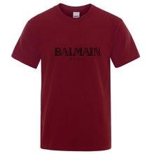 Camiseta de algodón con cuello redondo para hombre de camisa de ocio de una pieza de Harajuku... ropa de calle de talla grande de nueva