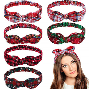Christmas Gifts Snowflake Grid Headband Xmas Garland Christams Decorations 2021 New Year Gift for Girls Ornaments Navidad Decor