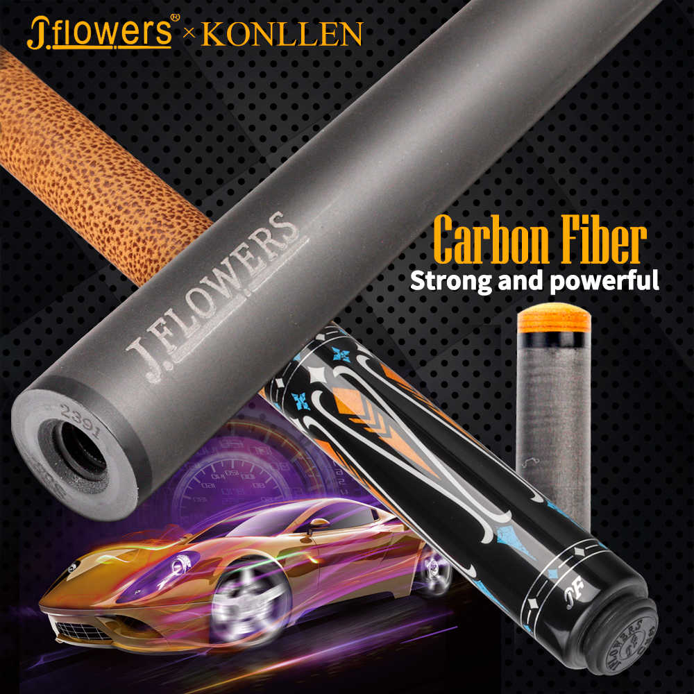 J-flower KONLLEN fibre de carbone piscine queue bâton carbone matériel technologie billard queue tige professionnel 3/8*8 queue bâton