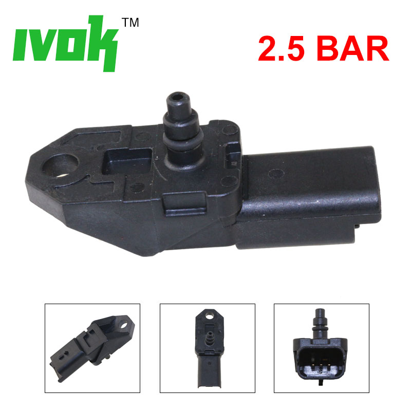 2.5BAR Manifold <font><b>Turbo</b></font> Boost Pressure MAP Sensor For 2004-2014 <font><b>Peugeot</b></font> 1007 206 307 <font><b>407</b></font> CC SW 607 807 1.6 <font><b>2.0</b></font> <font><b>HDI</b></font> 1920.CZ image