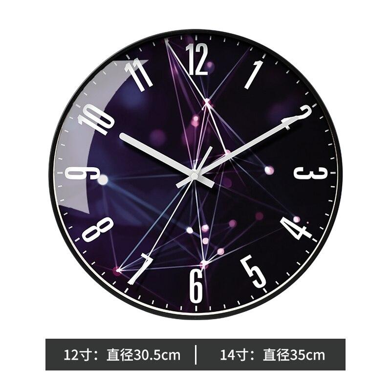 Luxury Glass Nordic Wall Clock Analog Large Wall Watch Modern Design Wall Clocks Decorative Clocks Home Decoration Clock II50BGZ