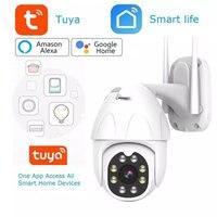 Telecamera IP PTZ Tuya esterna monitoraggio automatico vita intelligente Google Home Alexa1080P 2MP P2P WiFi telecamera di sicurezza monitoraggio automatico