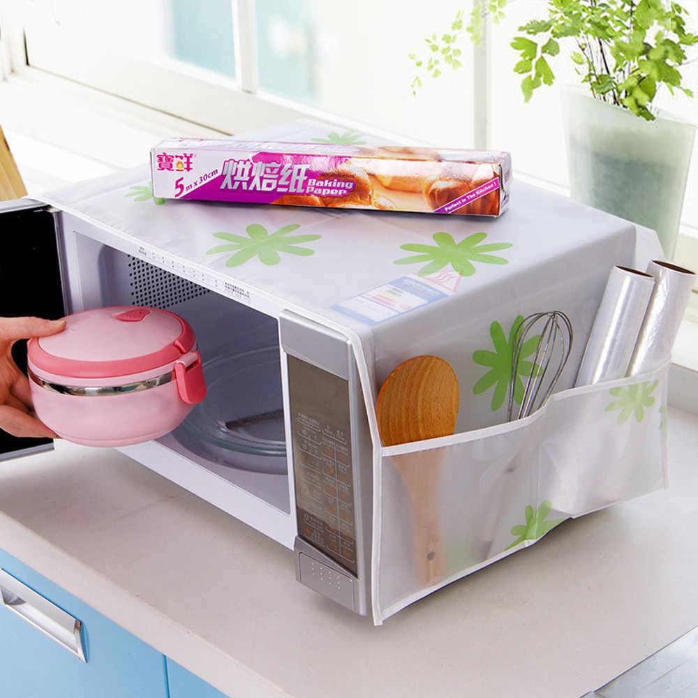 ครัวเรือนกันน้ำไมโครเวฟเตาอบฝุ่นพร้อมกระเป๋าสำหรับห้องครัวไมโครเวฟฝาครอบน้ำมันฝุ่น hogar cocina