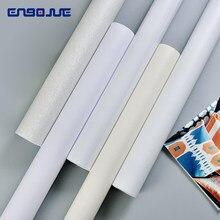 Papier peint auto-adhésif blanc de couleur unie, imperméable, résistant à l'humidité, arrière-plan épais, autocollants muraux pour chambre à coucher, dortoir, décoration de maison