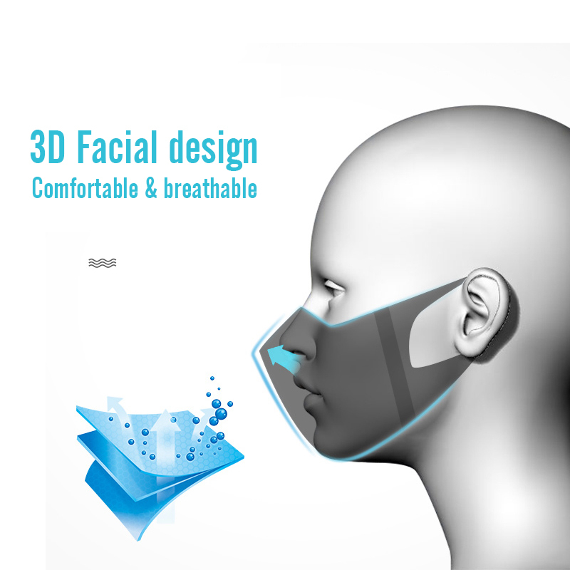 Image 2 - 50pcs Disposable 3 Layer Filter Mouth Face Mask Dust PM2.5 Masks Breathable Anti dust Virus Flu Masks Kid/Adult Size    -