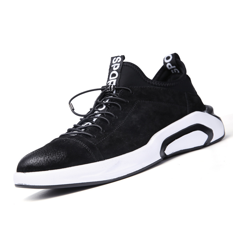 Winter Genuine Leather Joker Mens Shoes Casual Man England Leisure Time Trend High Help Run Sneakers Male Zapatos De Hombre in Men 39 s Casual Shoes from Shoes