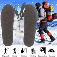 Heated Insoles Battery-Warmer Foot-He Keep-Boot Electric Ski Winter R8P2 Men Women