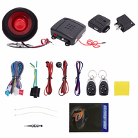 Universal Car Alarm Vehicle System Remote Alarm Autom Anti theft Protection Security Keyless Entry Siren 2Remote Control Burglar