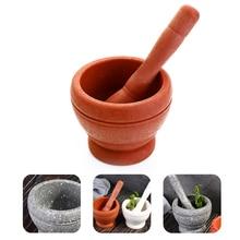 Pepper Grinder Masher Spice-Crusher Herbs Garlic Mortar Pestle Kitchen-Utensils Manual