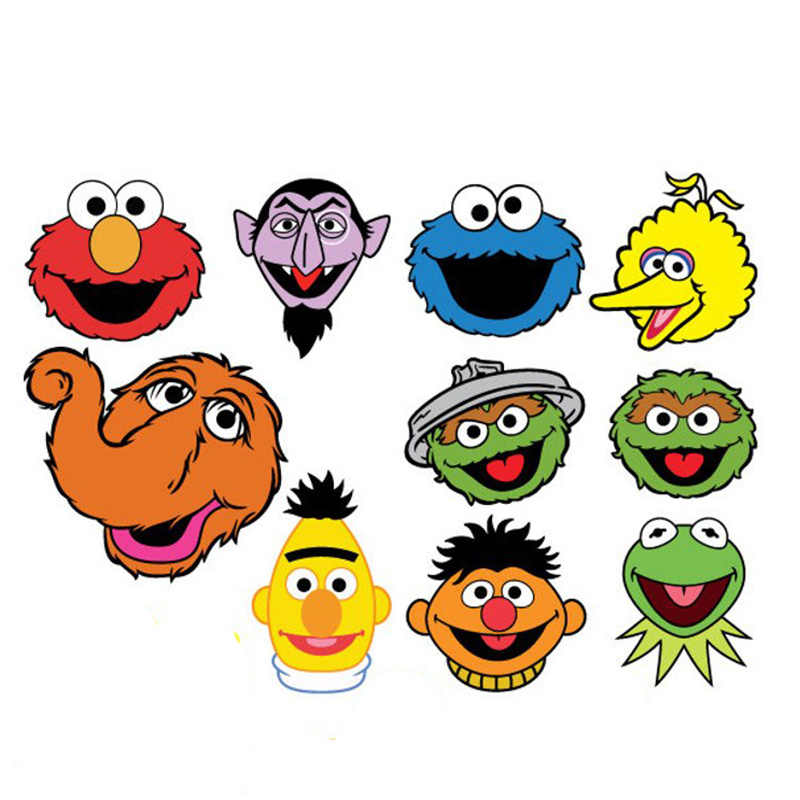 Us 80 0 Cartoon Sesame Street Brooches Cookie Elmo Big Bird Count Von Oscar Zoe Snuffleupagus Brooch Pins Jewelry Women Man In Brooches From
