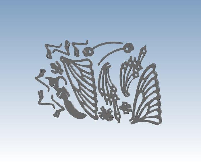 Простая Бабочка 3D печать служба быстрого прототипирования в соответствии с вашим дизайнерским файлом ST118 - 3