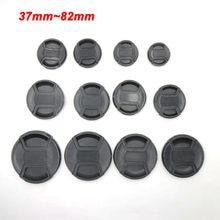 37 40,5 43 46 49 52 55 58 62 67 72 77 82 mm Cámara tapa de lente frontal Protector de cubierta para Canon Leica Nikon Sony tapa para lente