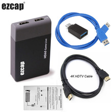 Box Video-Capture-Card Game Live-Streaming-Broadcast HDMI To 1080P USB3.0 Mic Microphone