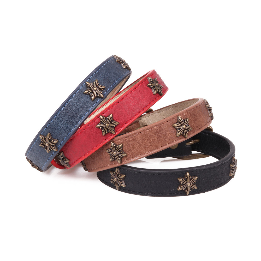 Amin Lattice New Style Medium Large Dog Star Dog Collar Pet Collar