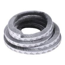 1/3/5M de cepillo adhesivo a prueba de viento a casa sellado puerta ventana de barril cepillo de exclusión tiempo de cinta de sellado de