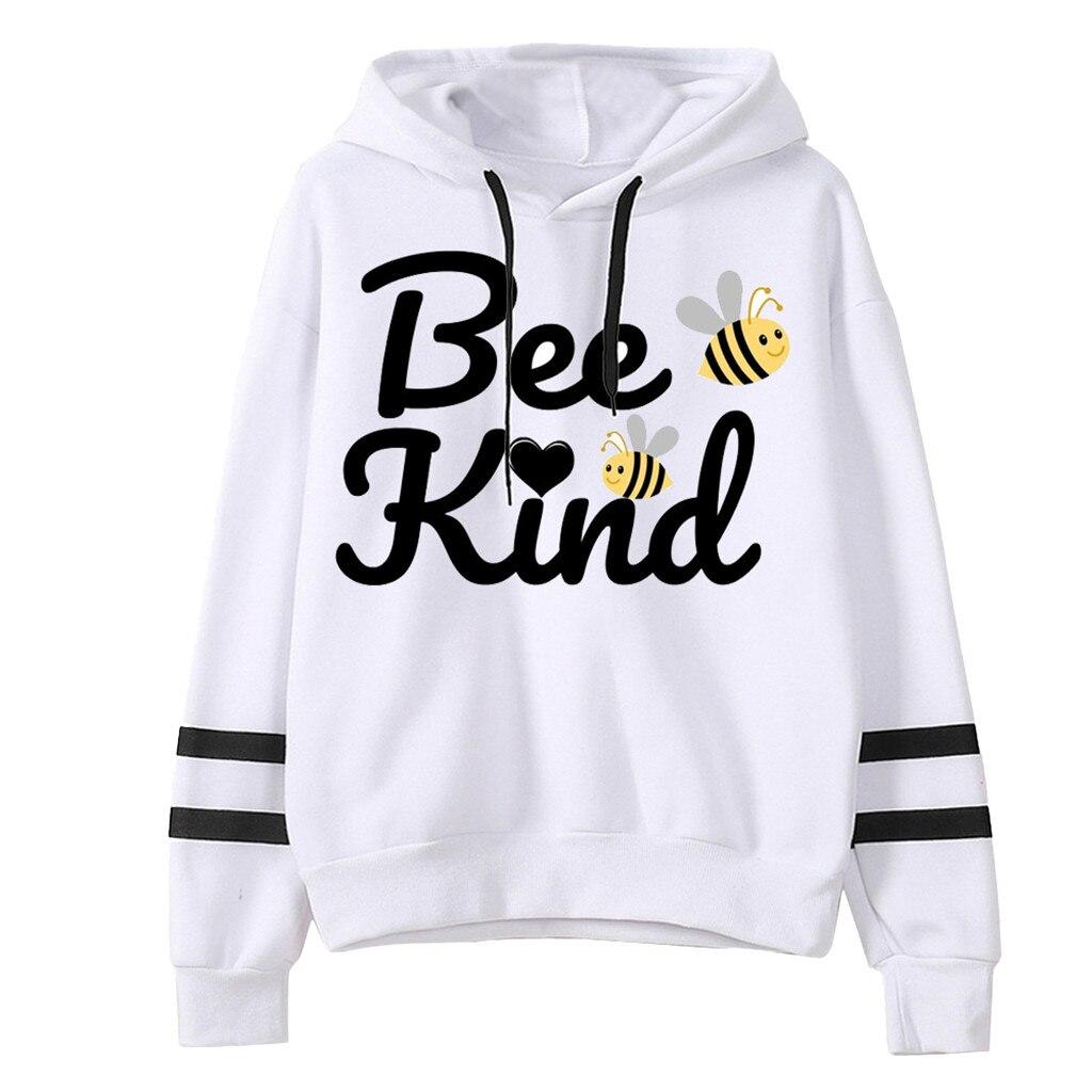 Women Letter Animal Printing Striped Hooded Sweatshirt Hoody Casual Ladies Girls Outdoor Collar Long Sleeves Streetwear Tops