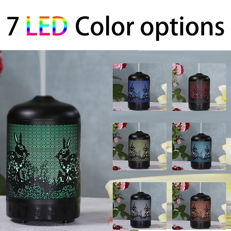 100ml Aroma Humidifier with 7 Color LED Lights Essential Oil Diffuser Aromatherapy Spa Air Mist Purifier