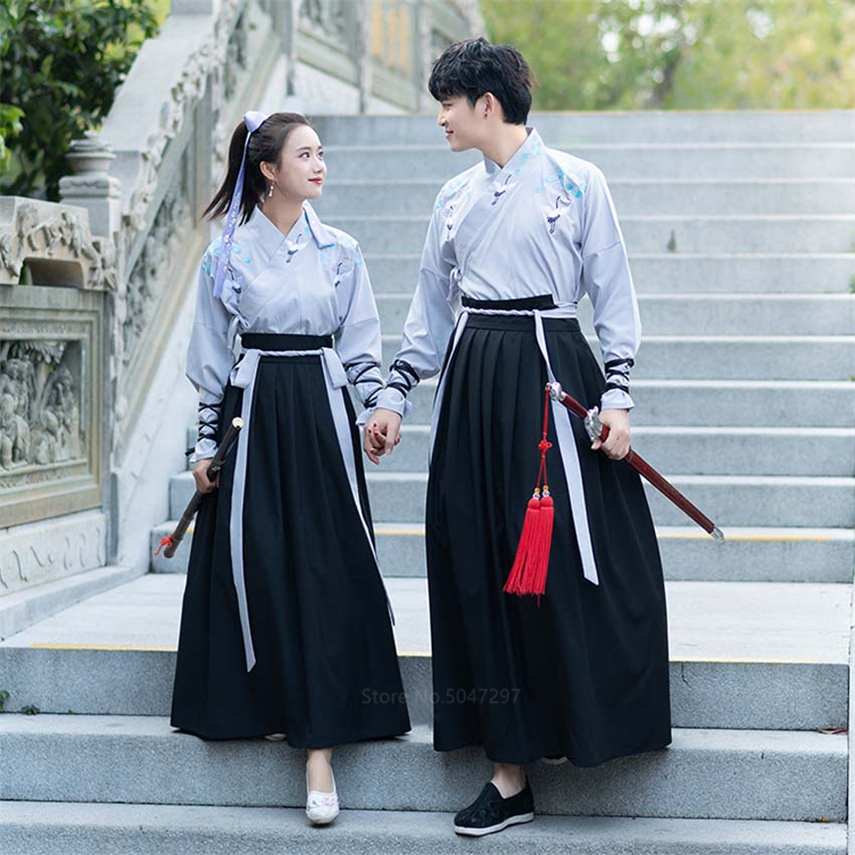 Embroidery Japanese Style Crane Kimono Haori Men Samurai Costume Harajuku Traditional Vintage Long Dress Women Oriental Robe