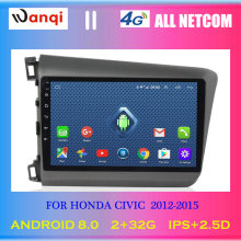 4G Lte All Netcom 9 inch Android 8.0 touch screen car audio dvd player for Honda Civic 2012-2015 GPS navigation(China)