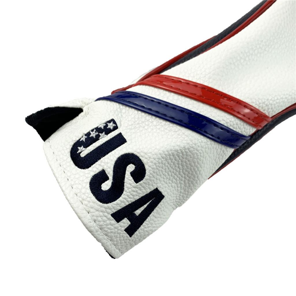 Golf Club Head Covers,Golf Headcovers Leather Golf Wood Covers For Friends And Family Members With Number Tag 3,4,5,6,X