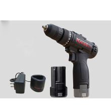 free shipping  Cordless 12V lithium battery electric screwdriver cordless drill with 2 batteries and charger