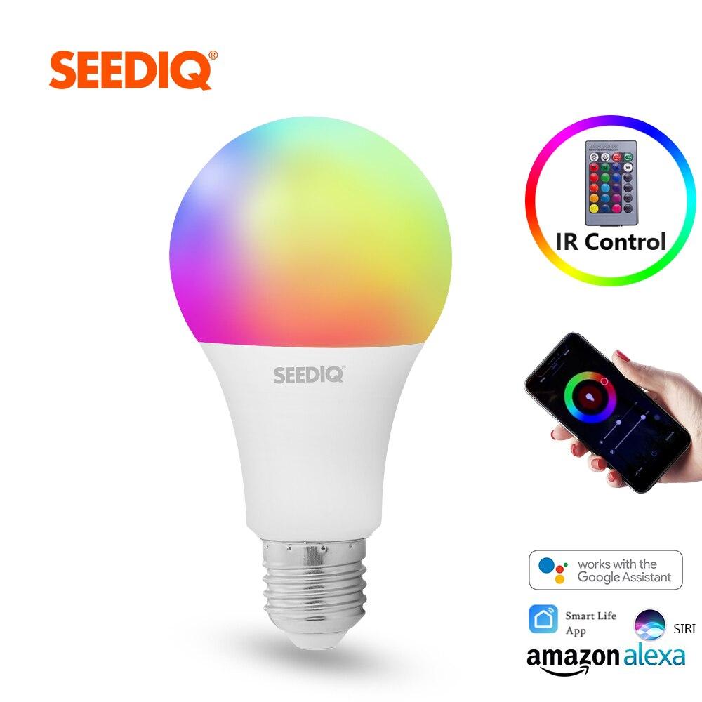 Led-Bulb Magic-Lamp Remote-Control E27 Dimmable Wifi 110V 220V RGBWW with IR AC 15W 10W