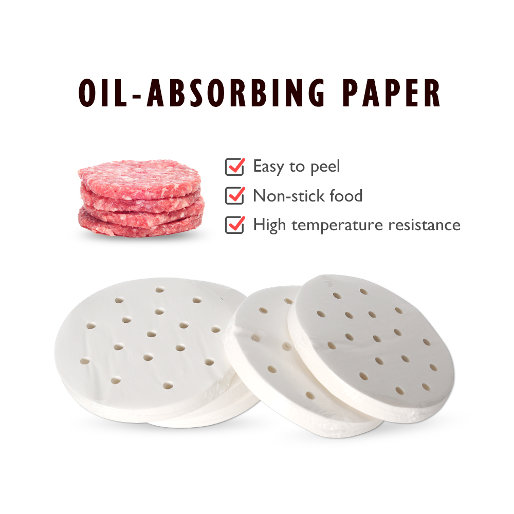 5 Set 2000pcs 130mm Hamburger Press Machine Oil Absorbing Paper Fit For AM13 Burger Patty Maker Machine Kitchen Snack Tool