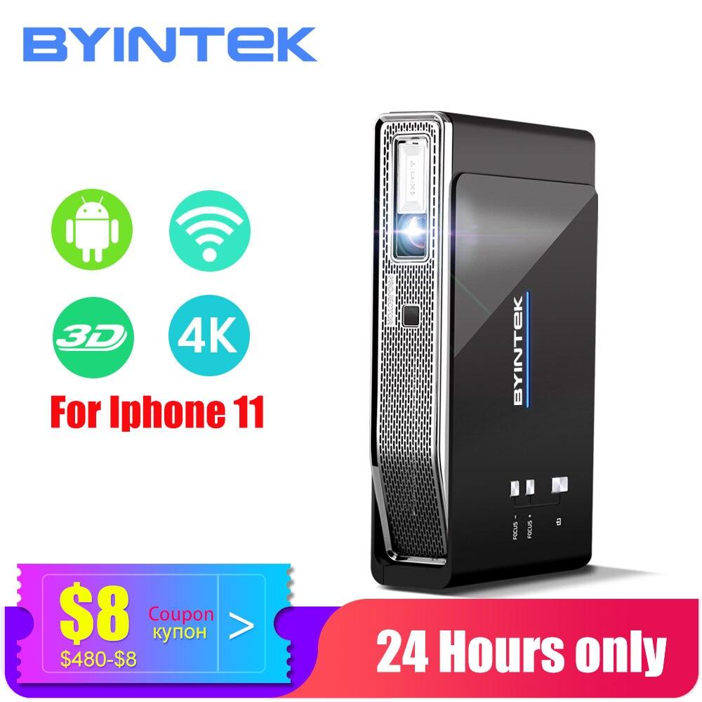 BYINTEK HD MINI projecteur 3D 4K R15, Wifi intelligent Android projecteur, projecteur LED DLP Portable pour 300 pouces Full HD 4K Home cinéma