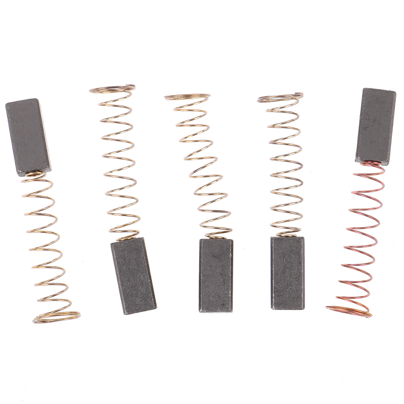 5Pcs Carbon Brushes Wire Leads Generator Generic Electric Motor Brush Replacement 4.5 X 6.5 X 20mm